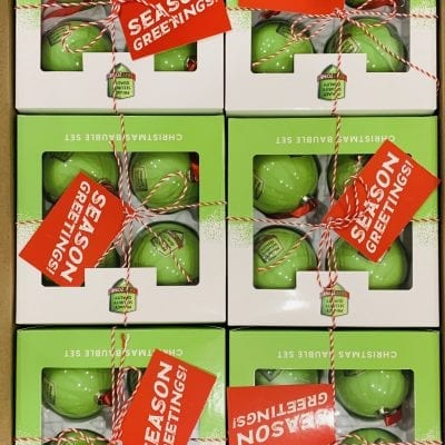 72 Christmas Baubles packed in 18 boxes with 4 pcs each- Limited Edition 2020 SAFEZONE
