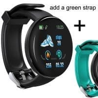 Black with Green Strap