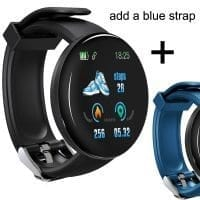 Black with Blue Strap