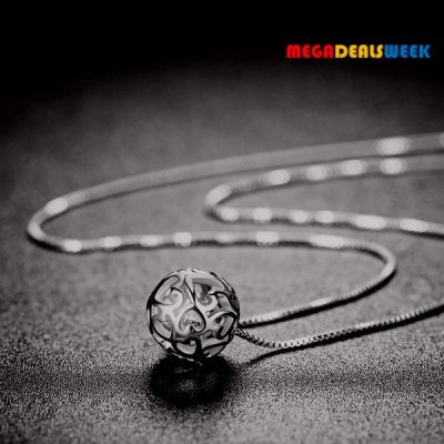 Silver Necklace with Silver Ball - Megadealsweek - YEM Deal